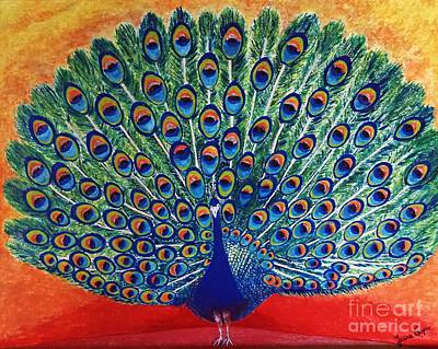 Painting - Peacock By Jasna Gopic by Jasna Gopic