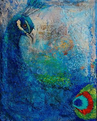 Peacock Art Print by Jean Cormier