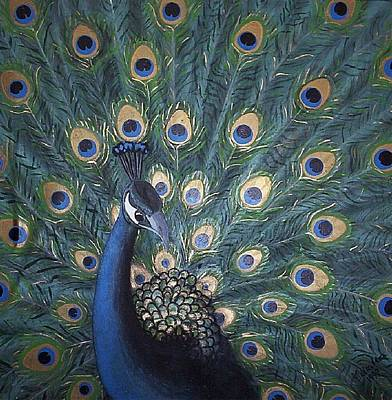 Painting - Peacock by Joan Stratton