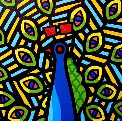 Peacock Poster Painting - Peacock by John  Nolan