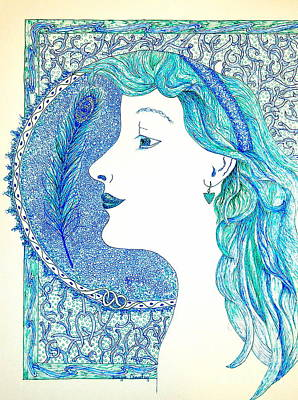Painting - Peacock Lady by Tamyra Crossley