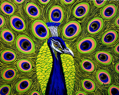 Peacock Mistique Art Print by Adele Moscaritolo