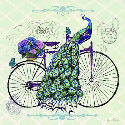 Peacock On Bicyle-jp2558 Original