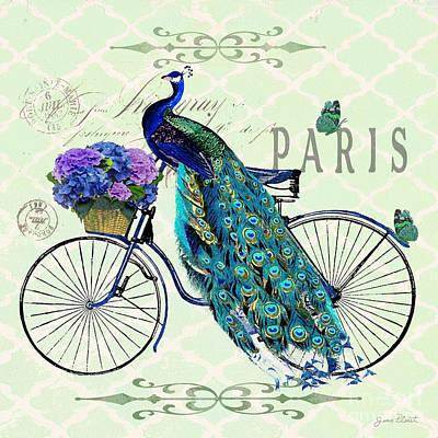 Peacock On Bicyle-jp2559 Original