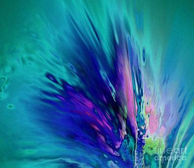 Abstract Painting - Peacock Paradise by Tlynn Brentnall