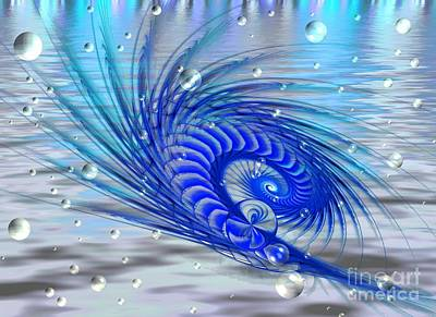 Digital Art - Peacock by Peggy Hughes