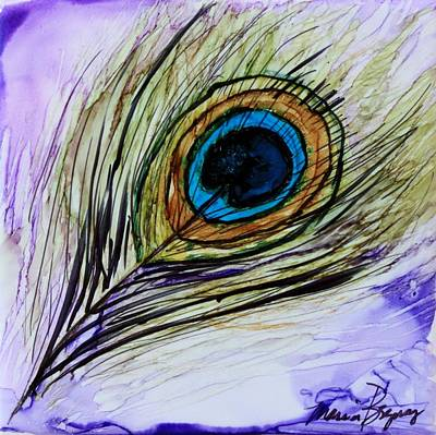 Painting - Peacock Plume by Marcia Breznay