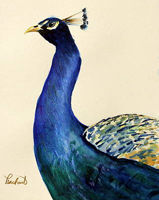 Painting - Peacock Portait by Prashant Shah