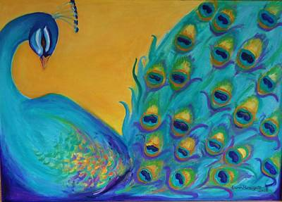 Painting - Peacock Prince by Gwen Carroll