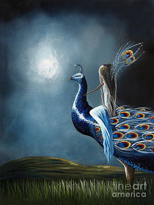 Faery Artists Painting - Peacock Princess By Shawna Erback by Shawna Erback