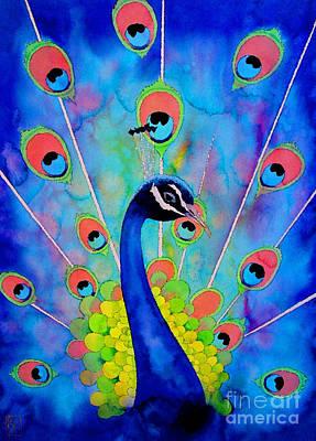 Peacock Bird Painting - Peacock by Robert Hooper