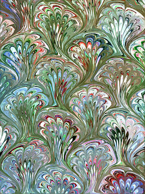 Digital Art - Peacock Shell Pattern Abstract by Karon Melillo DeVega