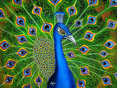 Painting - Peacock Splendor by Adele Moscaritolo