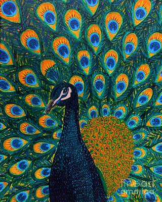 Painting - Peacock by Vicki Maheu