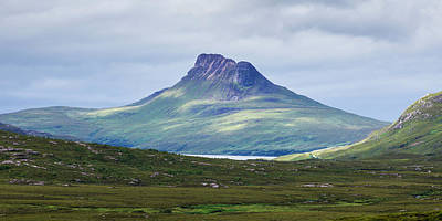 Highlands Of Scotland Photograph - Peak Of A Mountain Under A Cloudy Sky by Keith Levit