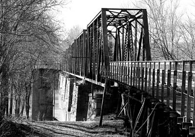 Photograph - Peak Railroad Bridge Bw by Joseph C Hinson Photography