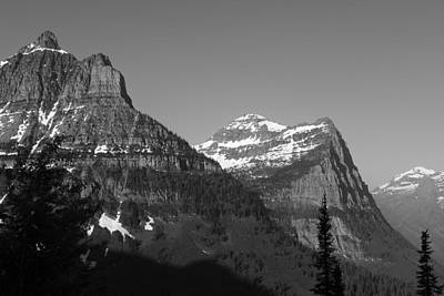Black And White Photograph - Peaking At Glacier National Park by Mark McKinney
