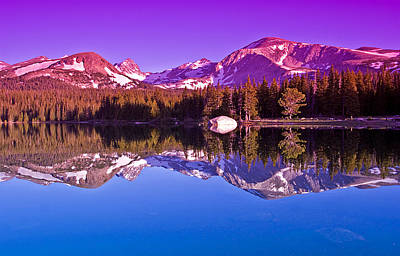 Mountain Reflection Lake Summit Mirror Photograph - Peaks In The Mirror by Brian Kerls