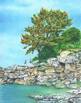 Drawing - Peaks Island by Troy Levesque