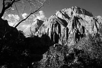 Photograph - Peaks Of Zion Black And White by Robert  Moss