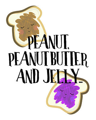 Peanut Butter And Jelly Art Print by Amy Cummings