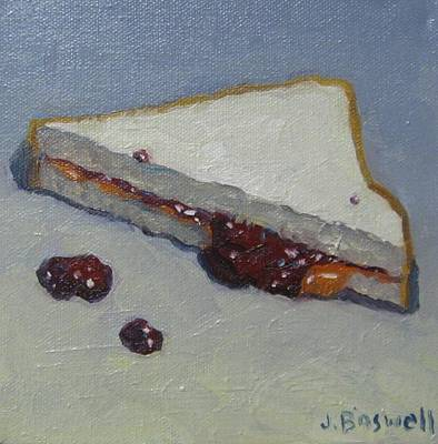 Peanut Butter And Jelly Sandwich Art Print by Jennifer Boswell