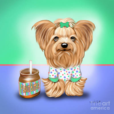 Painting - Peanut Butter Lover by Catia Lee