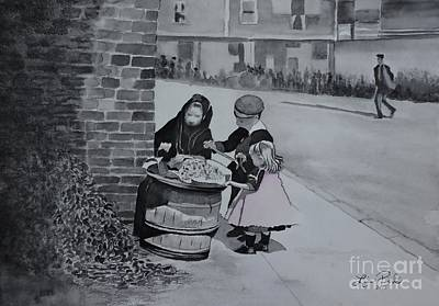 Scoop Painting - Peanut Seller Circa 1900 by Lise PICHE