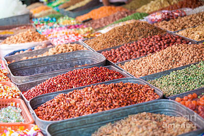 Peanuts At Local Market - Xinjiang - China Art Print