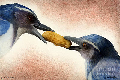 Bluejay Painting - Peanuts Envy... by Will Bullas