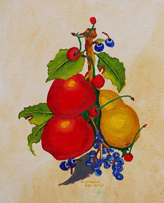 Painting - Pear And Apples by Johanna Bruwer