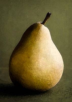 Faa Artist Drawing - Pear by Cole Black
