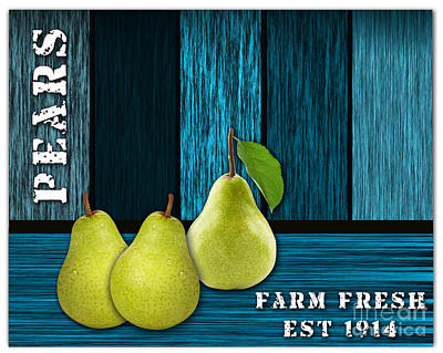 Pears Mixed Media - Pear Farm by Marvin Blaine