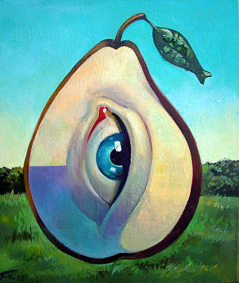 Painting - Fishing Pear  by Filip Mihail
