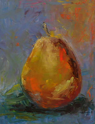 Pear For Becky Art Print by Susie Jernigan