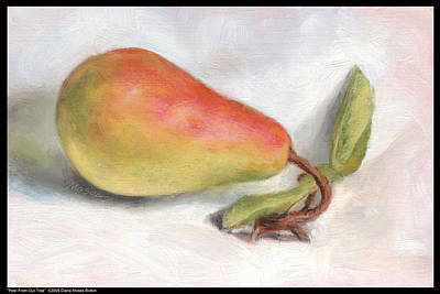 Painting - Pear From Our Tree by Diana Moses