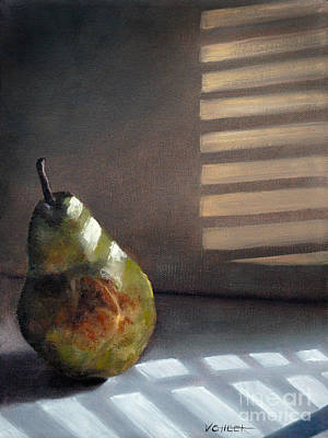 Pear In Morning Light Art Print
