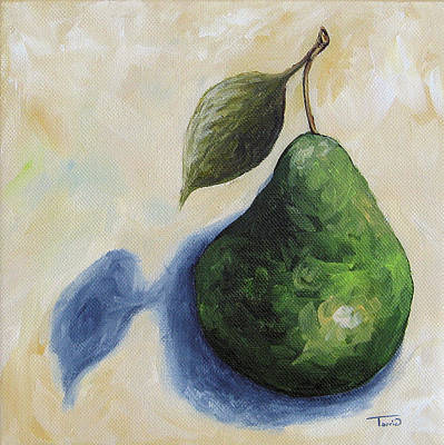 Painting - Pear In The Spotlight by Torrie Smiley