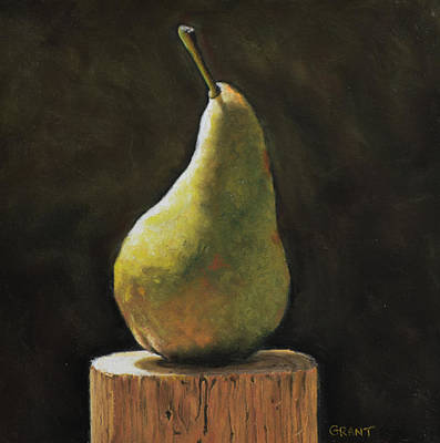 Painting - Pear by Joanne Grant