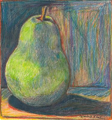 Fruit Colored Pencil Drawing Drawing - Pear by Kendall Kessler