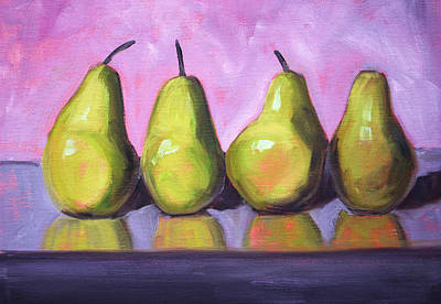 Pear Line Art Print by Nancy Merkle
