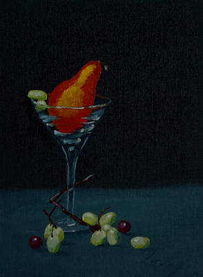 Martini Paintings - Pear Martini by Nick Froyd