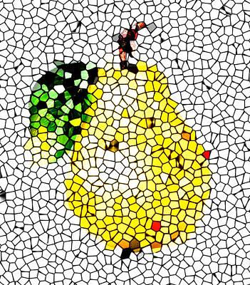 Pear Mosaic Art Print