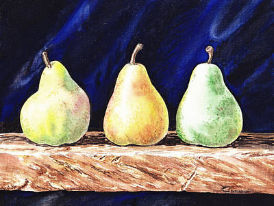 Organic Painting - Pear Pear And A Pear by Irina Sztukowski