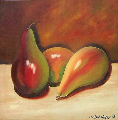 Painting - Pear Reflections Sold by Susan Dehlinger