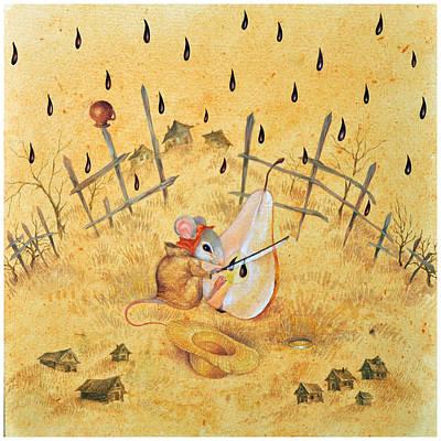 Painting - Pear Seed by Nekoda  Singer