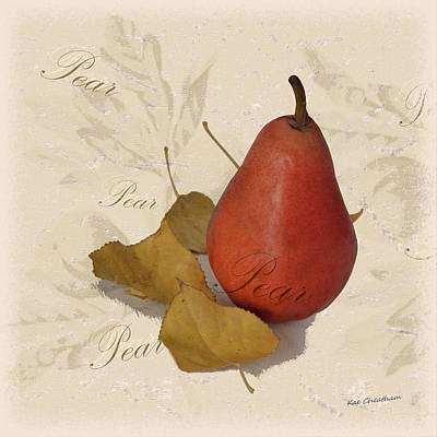 Pear Mixed Media - Pear Square by Kae Cheatham