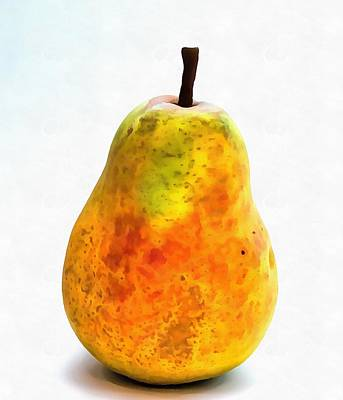 Pear Digital Art - Pear Still Life by Dan Sproul