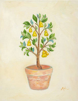 Pruning Painting - Pear Tree by Annamarie Lombardo