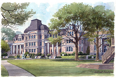 Education Painting - Pearce Auditorium by George Evans